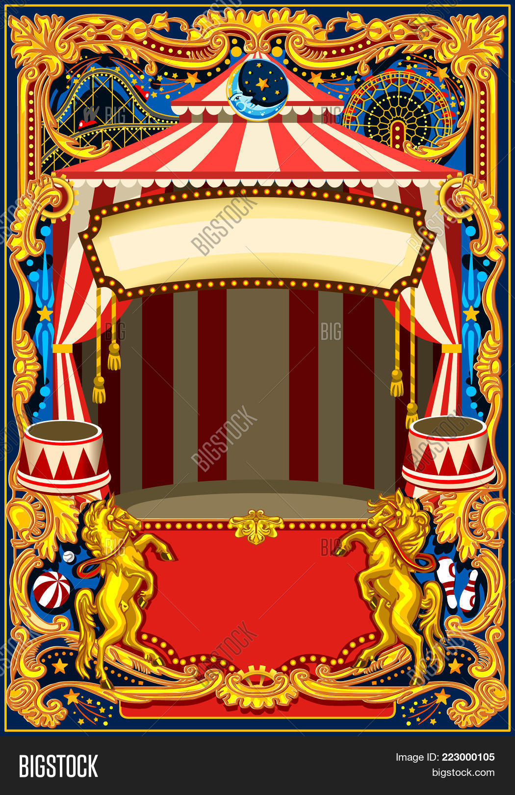 Circus Poster Theme Vector Photo Free Trial Bigstock