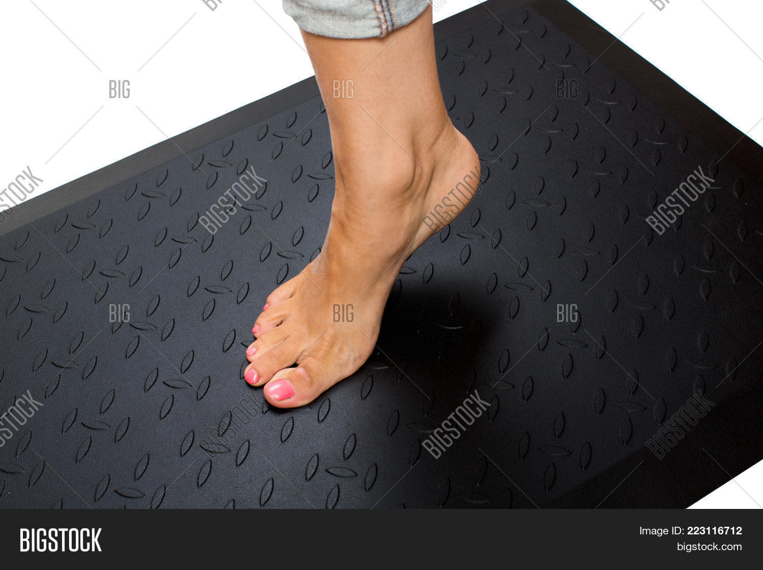 Close up of womans foot powerpoint template close up of womans p toneelgroepblik Images