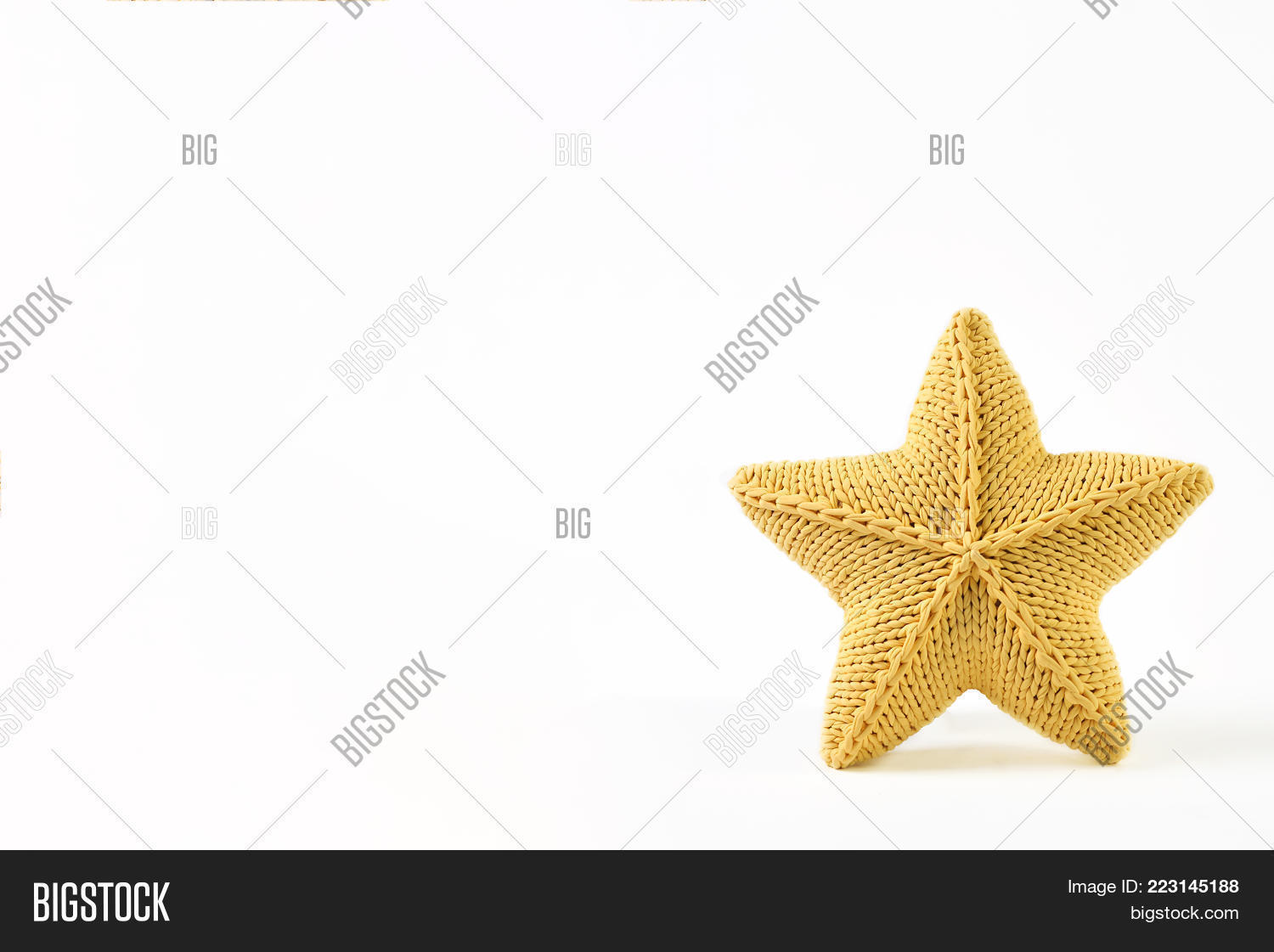 Yellow Knitted Five- Image & Photo (Free Trial) | Bigstock