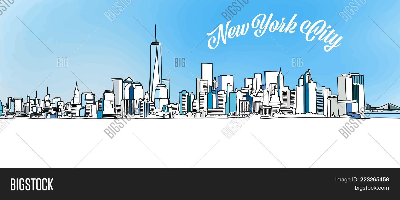 Sketch New York City Vector Photo Free Trial Bigstock