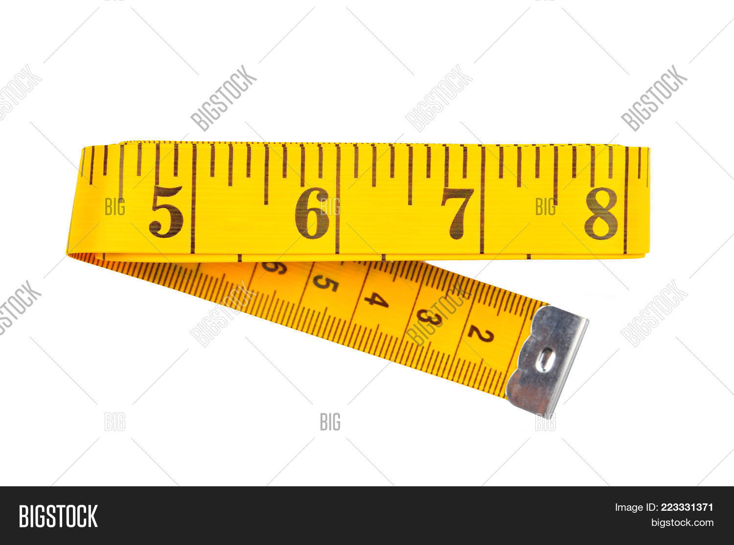 Tape measure yellow measuring tape PowerPoint Template - Tape ...