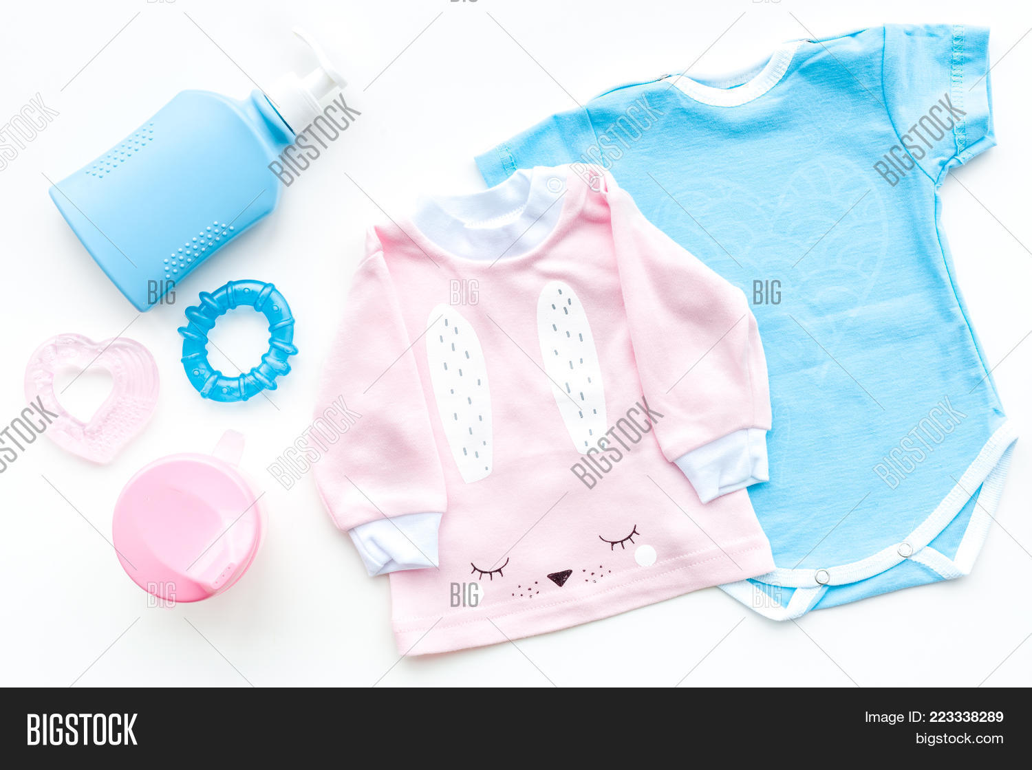 colorful concept baby clothes powerpoint template colorful concept