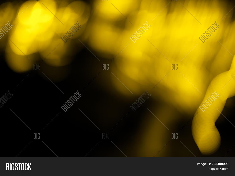 Illuminated Bokeh Black Powerpoint Template Illuminated Bokeh