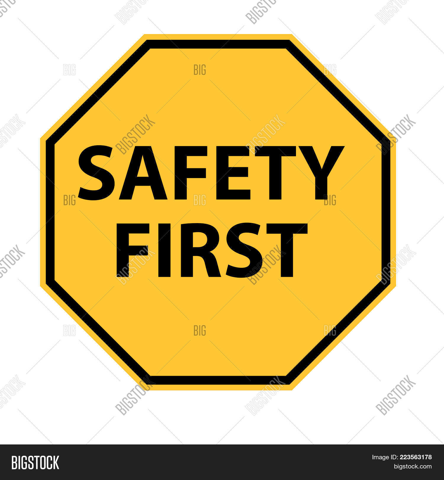 Safety First Logo On Image Photo Free Trial Bigstock