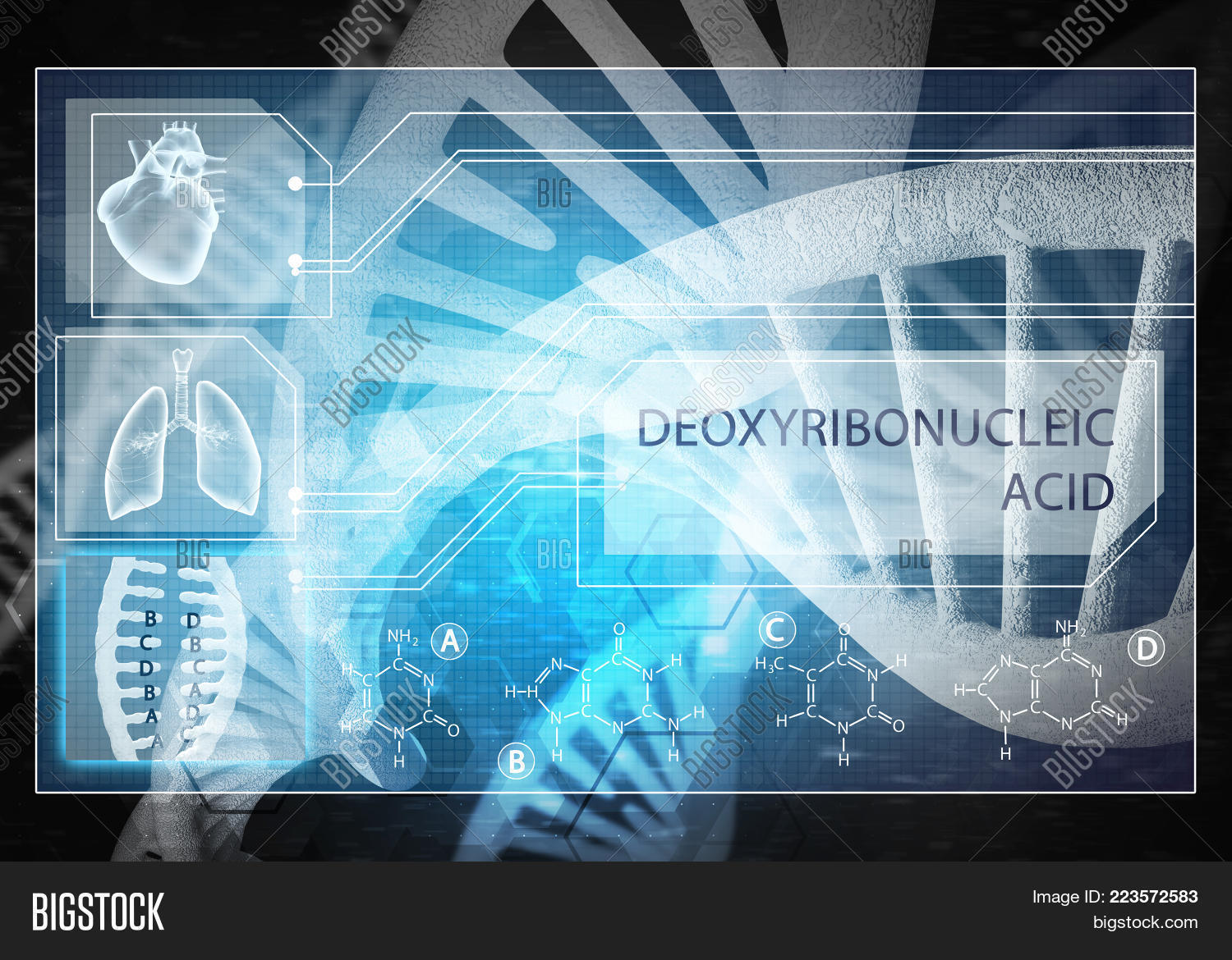 Research Dna Media Medicine Powerpoint Template Research Dna Media