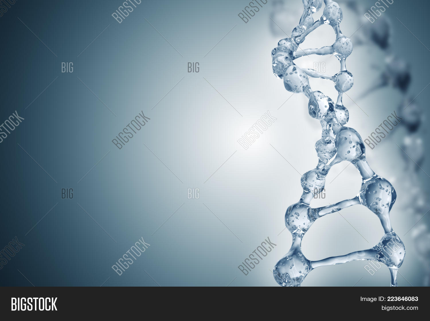 Communication dna molecules on the beautiful PowerPoint Template ...