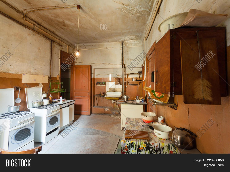 Dirty Kitchen Furniture Gas Stoves Image & Photo | Bigstock