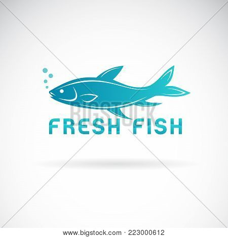 Vector of a fish design on a white background. Aquatic animals. Fresh fish symbol. Easy editable layered vector illustration.