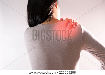 the women suffer from  neck/shoulder injury/painful after working