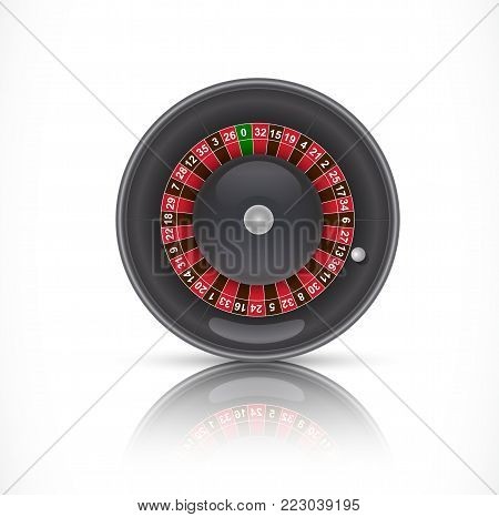 Illustration of roulette in casino. Gambling, playing, luck. Fortune concept. Can be used for topics like game, luck, addiction
