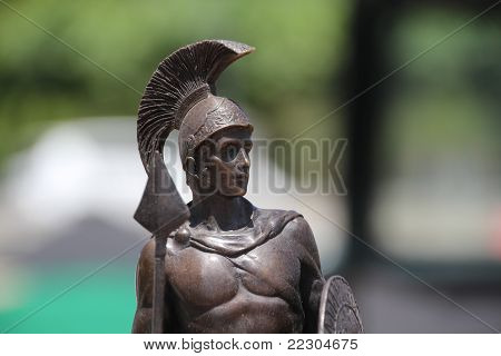Foreground Statue Of A Roman Warrior