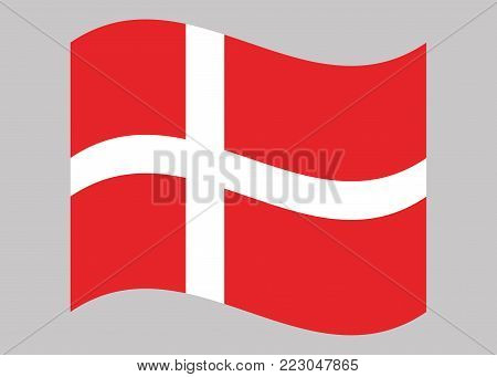 National Denmark flag, vector illustration. National flag of Denmark