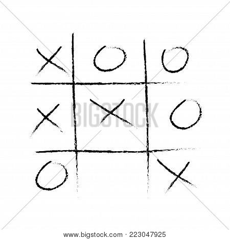 Vector tic tac toe game. Vector illustration