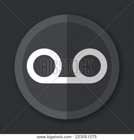 Illustration of voice recorder flat grey icon