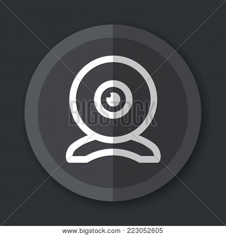 Illustration of web cam flat grey icon