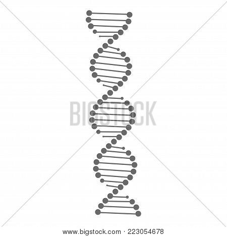 DNA vector. DNA icon on white background