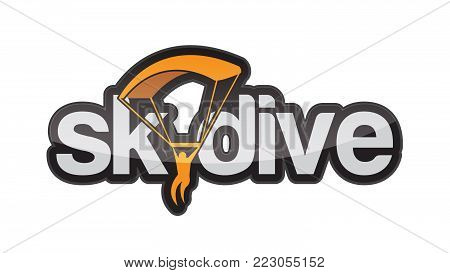 Creative skydiving logo template vector icon illustration design