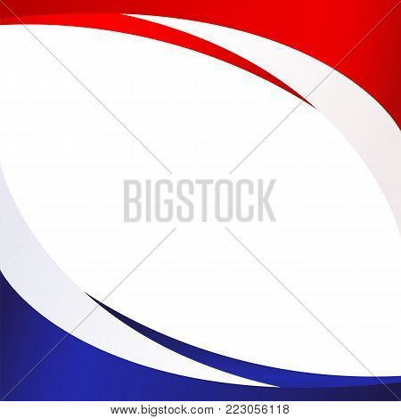 Patriotic background of colors of the national flag of Russia flowing abstract wavy lines Element for design of template banner card poster on national holidays Patriotic symbol of the country Vector