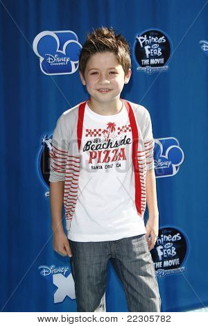 LOS ANGELES, CA - AUGUST 03: Davis Cleveland at the premiere of Disney Channel's 'Phineas and Ferb: Across The 2nd Dimension' on August 3, 2011 in Los Angeles, California