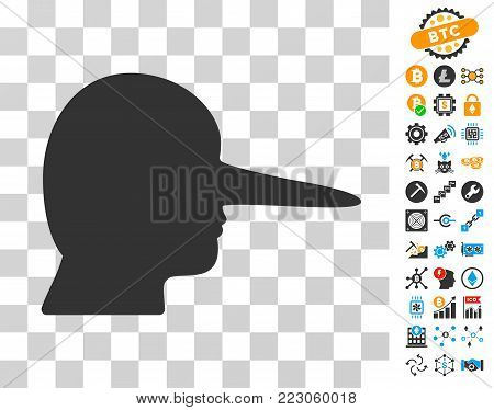 Lier icon with bonus bitcoin mining and blockchain icons. Vector illustration style is flat iconic symbols. Designed for cryptocurrency ui toolbars.