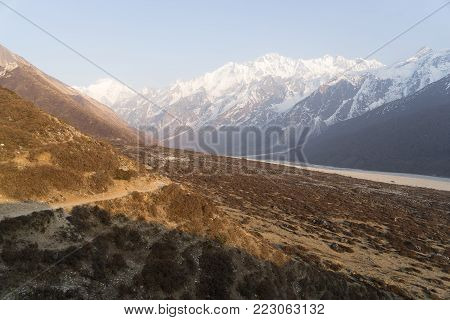 Mountain Landscape In Nepal