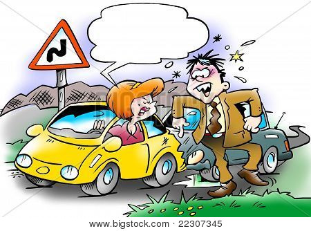 Car Collision Between Two Motorists