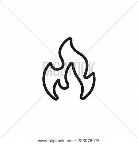 Icon of fire. Flame, blaze, bonfire. Energy concept. Can be used for topics like warning, inflammation, safety.
