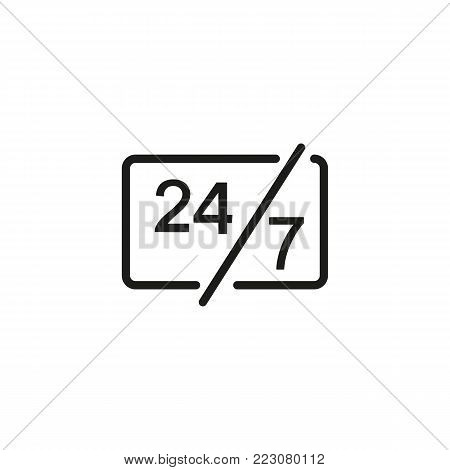 Service and support for customers twenty four hours and seven days. Card, help, assistance. Service concept. Can be used for topics like call center, service, support.