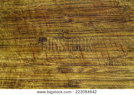 Orange Wooden texture, empty wood background, cracked surface.