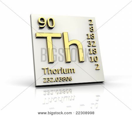 Thorium form Periodic Table of Elements - 3dm made poster
