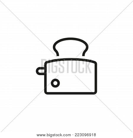 Icon of toast maker. Bread, heat, toaster Home equipment concept. Can be used for topics like electric appliance, automation, comfort