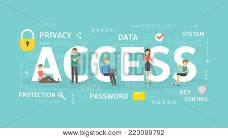 Access concept illustration. Idea of data, privacy and system.