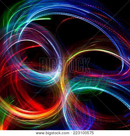 Abstract twinkled bright background with bokeh defocused lights