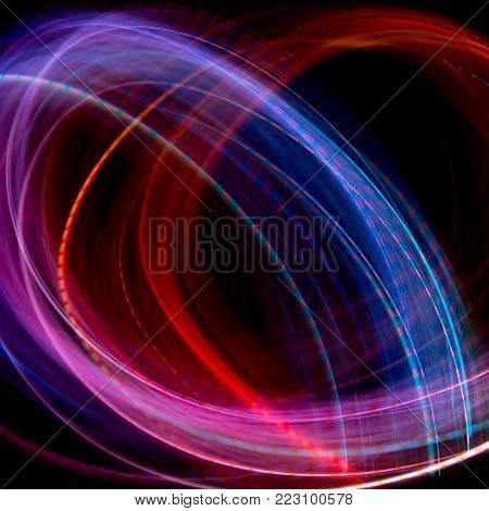 Festive Christmas background. Abstract twinkled bright background with bokeh defocused lights