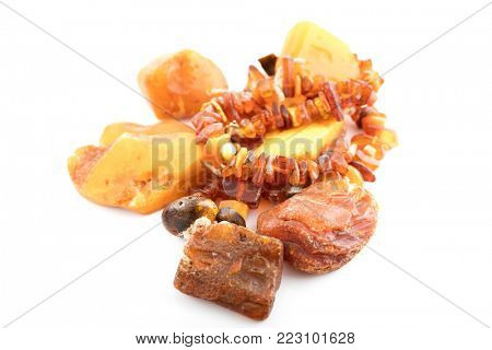 The raw amber from coast of the Baltic sea.