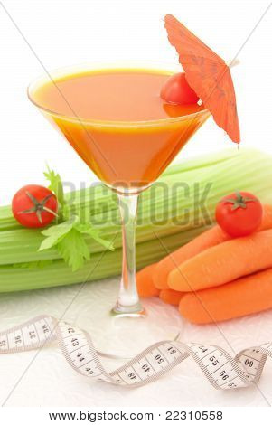 Tasty Cocktail With Vegetables