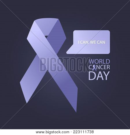 World cancer day. Day of diseases awareness.