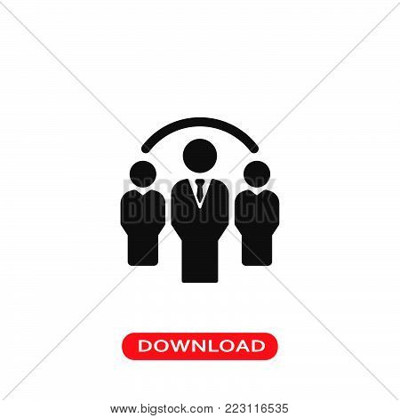 Group icon vector in modern flat style for web, graphic and mobile design. Group icon vector isolated on white background. Group icon vector illustration, editable stroke and EPS10. Group icon vector simple symbol for app, logo, UI.