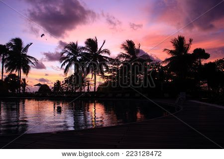 Beautiful sunset in Phuket island. Sunset in the land of the smiles poster