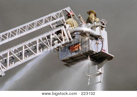 Close-up Of Fireman Working