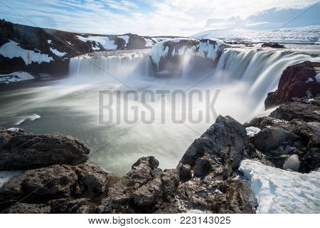 Godafoss (Goðafoss) the waterfalls of god one of the iconic natural landmark of North Iceland.