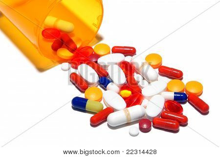 Pharmaceutical Prescription Medicine Pills Cocktail