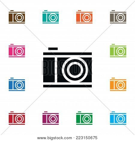 Isolated photograph icon. Snapshot vector element can be used for snapshot, lens, camera design concept.