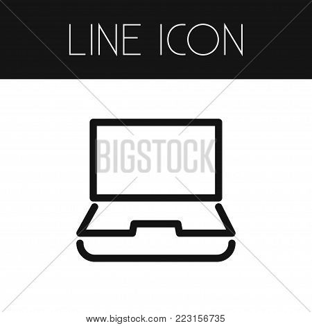 Isolated notebook icon line. Desktop  element can be used for notebook, computer, desktop design concept.