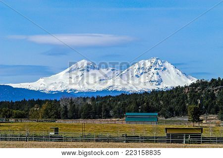 Three Sisters near Bend in Central Oregon