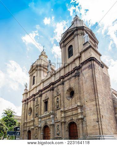 The Santo Domingo Church (Iglesia de Santo Domingo) in Santiago, Chile