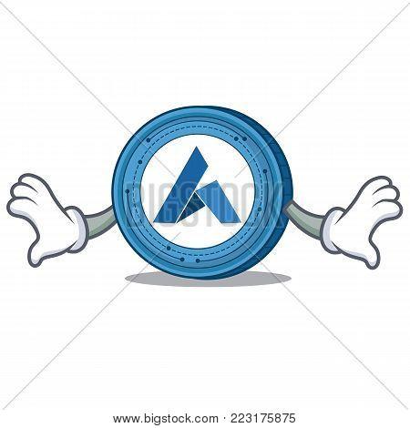 Shock Ardor coin mascot cartoon vector illustration