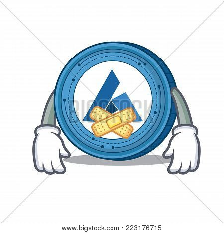 Silent Ardor coin mascot cartoon vector illustration