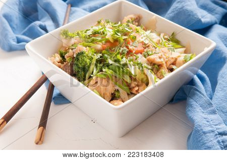 decadent thai chicken stir fry pad see ew style
