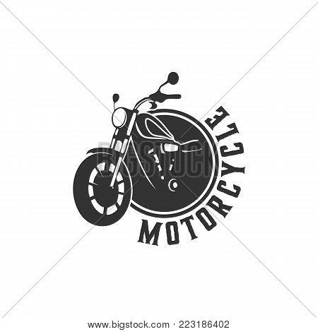 motorcycle logo design vector, illustration motorcycle club